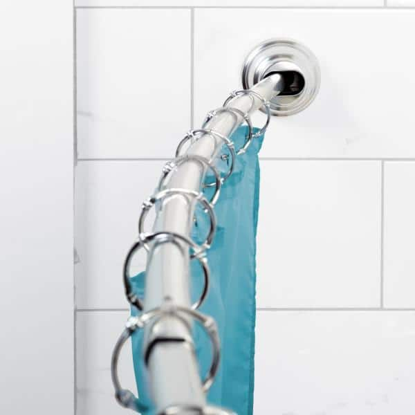 Zenna Home Neverrust Adjustable Tension, How To Install A Curved Tension Shower Curtain Rod