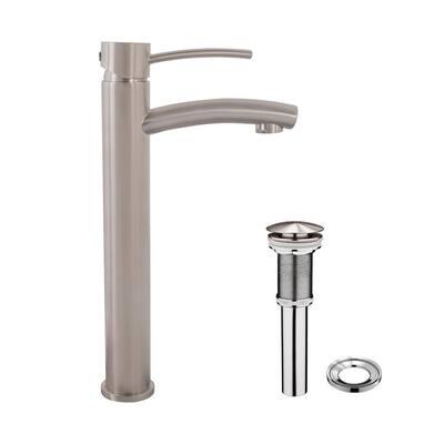 Milo Single-Handle Vessel Sink Faucet in Brushed Nickel