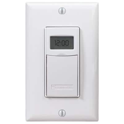 15 Amp 7-Day Indoor In-Wall Astronomic Digital Timer, White