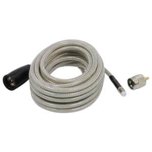 Coax Cable with PL-259/FME Connectors, 18 ft.
