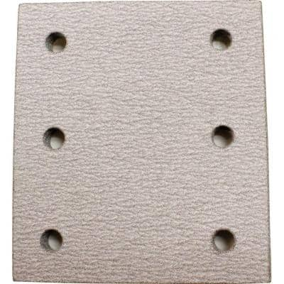 4 in. x 4-1/2 in. 150-Grit Hook and Loop Abrasive Paper (5-Pack) compatible with 1/4 Sheet Finishing Sanders