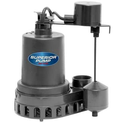 1/3 HP Submersible Thermoplastic Sump Pump