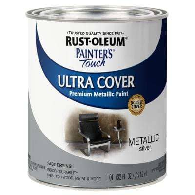 32 oz. Ultra Cover Metallic Silver General Purpose Paint (Case of 2)