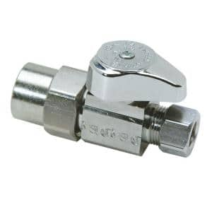 1/2 in. CPVC Inlet x 3/8 in. Comp Outlet 1/4-Turn Straight Valve