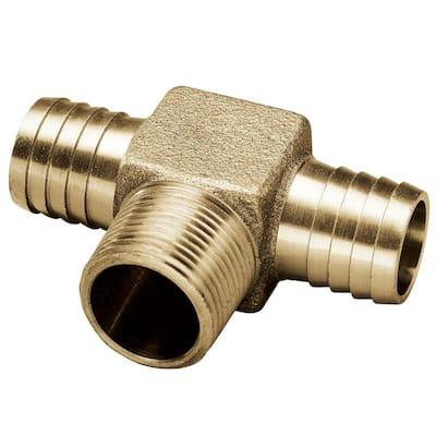 3/4 in. x 3/4 in. x 3/4 in. Brass Yard Hydrant Tee