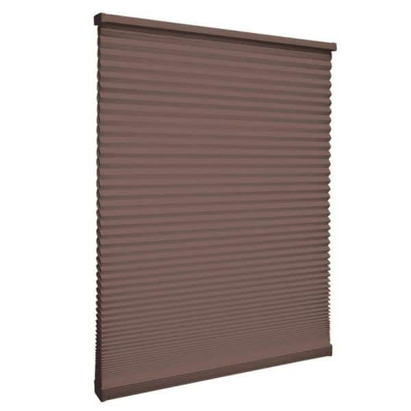 Home Decorators Collection Mocha Cordless Blackout Cellular Shade 35 In W X 48 In L 10793478632046 The Home Depot