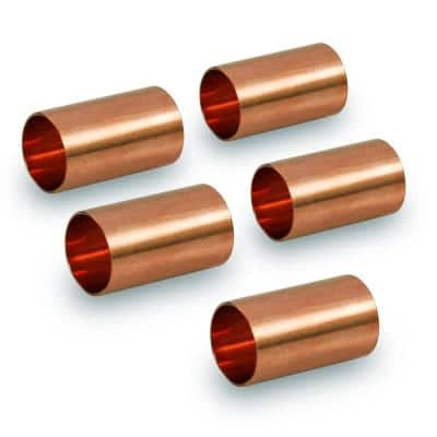 1/4 in. Straight Copper Coupling Fitting (5-Pack)