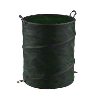 44 Gal. Green Collapsible Camping Trash Can with Lid