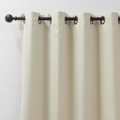 Ivory Grommet Blackout Curtain - 80 in. W x 96 in. L