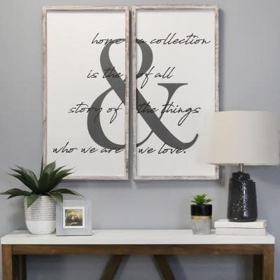 2 Pc Home is the Story Wall Art