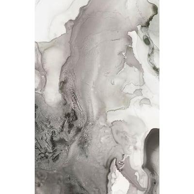 "48 in. x 72 in. ""Mint Bubbles III Grey Version"" by PI Studio Canvas Wall Art"