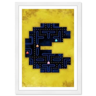 Classic Arcade Game' Framed Fantasy Art Print 19 in. x 13 in.