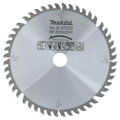 6-1/2 in. 48-Teeth Carbide Tipped Saw Blade for use with Circular Saw