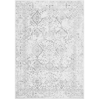 Odell Distressed Persian Ivory 7 ft. x 9 ft. Area Rug
