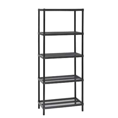 Black 5-Tier Steel Garage Storage Shelving Unit (24 in. W x 59 in. H x 14 in. D)