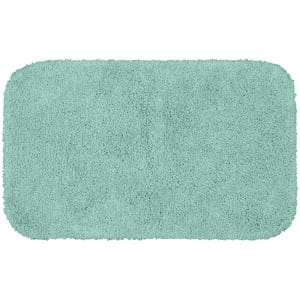 Serendipity Sea Foam 24 in. x 40 in. Shag Nylon Bath Mat