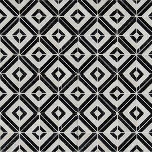 Rhombix Nero 12 in. x 12 in. x 10 mm Polished Marble Mosaic Tile (10 sq. ft. / case)