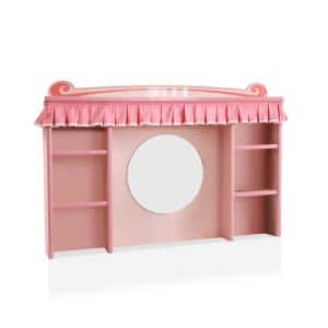 Mikelsen Pink Desk With Hutch