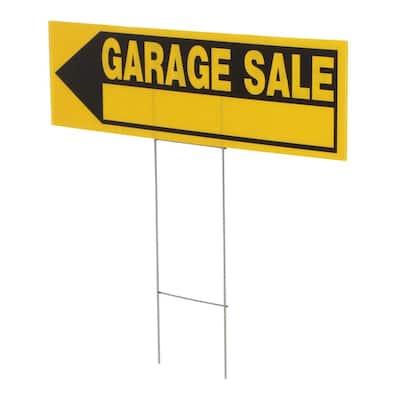6 in. x 24 in. Corrugated Plastic Garage Sale Sign