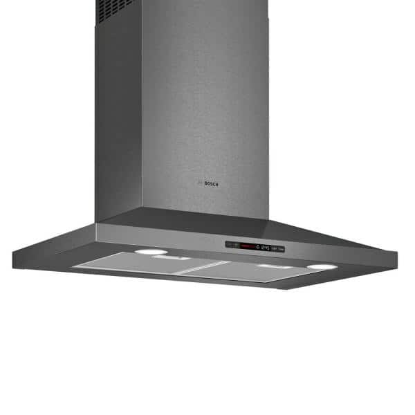 Bosch 800 Series 30 In Pyramid Style Canopy Range Hood With Lights In Black Stainless Steel Hcp80641uc The Home Depot