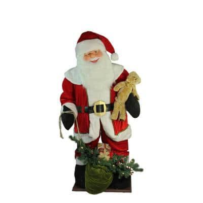 6 ft. Inflatable LED Lighted Musical Santa Claus Christmas Figure with Gift Bag
