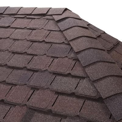 Timbertex Royal Slate Double-Layer Hip and Ridge Cap Roofing Shingles (20 lin. ft. per Bundle) (30-pieces)