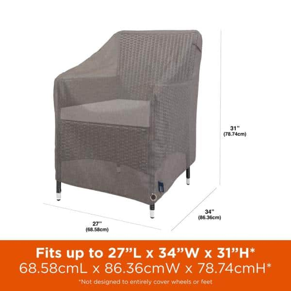 Garrison Waterproof Outdoor Patio Chair, Plastic Feet For Outdoor Furniture Home Depot