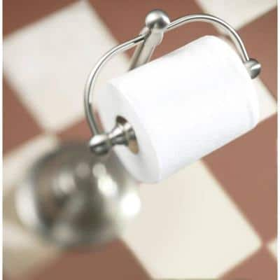 Sage Freestanding Toilet Paper Holder in Spot Resist Brushed Nickel