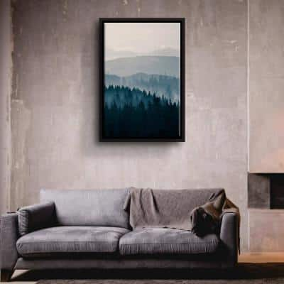 Blue Mountains II' by PhotoINC Studio Framed Canvas Wall Art