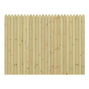 6'X8' PT SPF 4'' Pressure-Treated Spruce Moulded Stockade Fence Panel