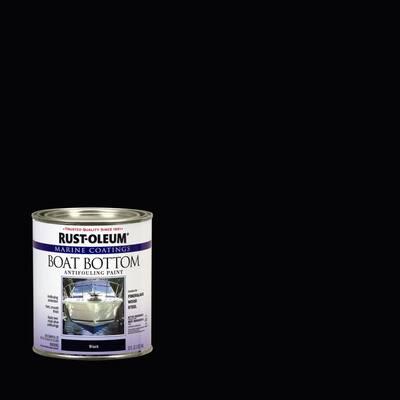 1 qt. Flat Black Boat Bottom Antifouling Paint (4-Pack)