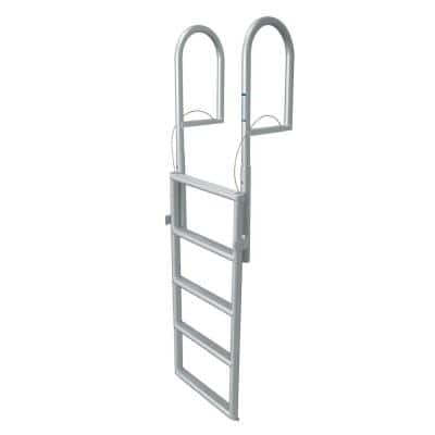 5 Step Standard Rung Lifting Aluminum Dock Ladder