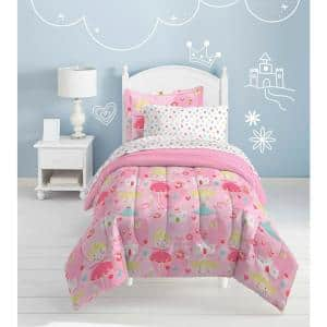 Pretty Princess 5-Piece Pink Twin Comforter Set