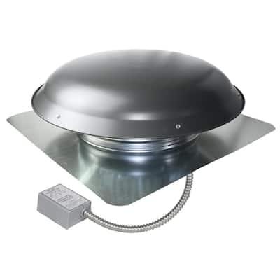 1400 CFM Grey Weathered Galvanized Steel Electric Power Attic Roof Ventilator