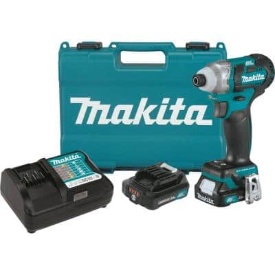 12-Volt MAX CXT Lithium-Ion Brushless 1/4 in. Cordless Impact Driver Kit with (2) Batteries 2.0Ah, Charger, Hard Case