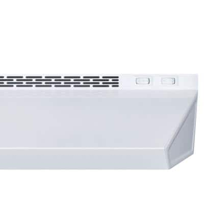 20 in. Convertible Under Cabinet Range Hood in White