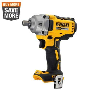 20-Volt MAX XR Cordless Brushless 1/2 in. Mid-Range Impact Wrench with Detent Pin Anvil (Tool-Only)