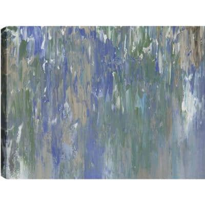 """30 in. x 40 in. """"Waterfalls Abstract"""" by Sanjay Patel Printed Canvas Wall Art"""