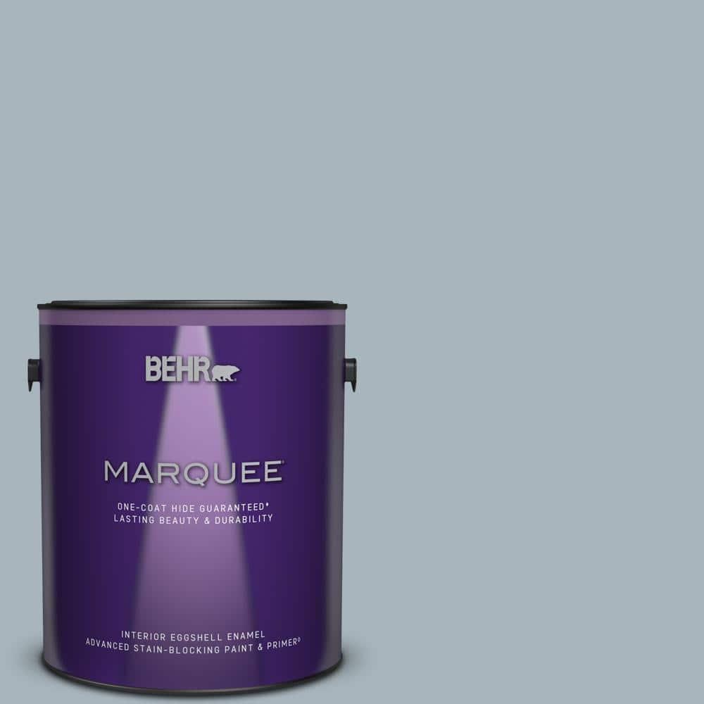 Behr Marquee 1 Gal Mq5 23 Intercoastal Gray One Coat Hide Eggshell Enamel Interior Paint Primer 245001 The Home Depot