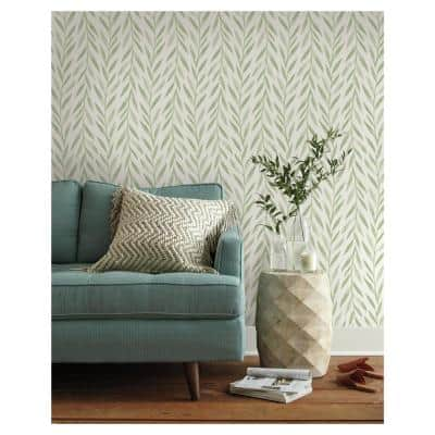Willow Green Peel & Stick Repositionable Wallpaper Roll (Covers 34 Sq. Ft.)