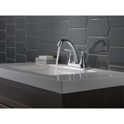 Woodhurst 4 in. Centerset 2-Handle Bathroom Faucet in Chrome