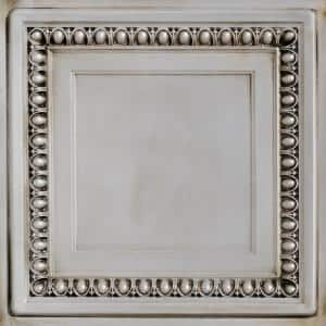 Cambridge 2 ft. x 2 ft. PVC Glue-Up or Lay-In Ceiling Tile in Antique White
