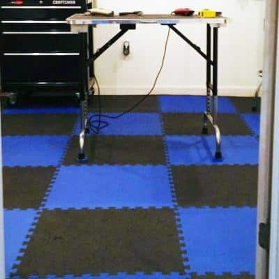 Economy Foam Gray 2 ft. x 2 ft. x 1/2 in. Interlocking Puzzle Floor Tiles (Case of 20)