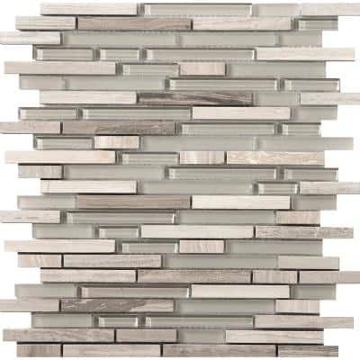 Lucente Certosa Gloss/Matte Mix 12.05 in. x 12.05 in. x 8mm Glass Mesh-Mounted Mosaic Tile (1.07 sq. ft.)
