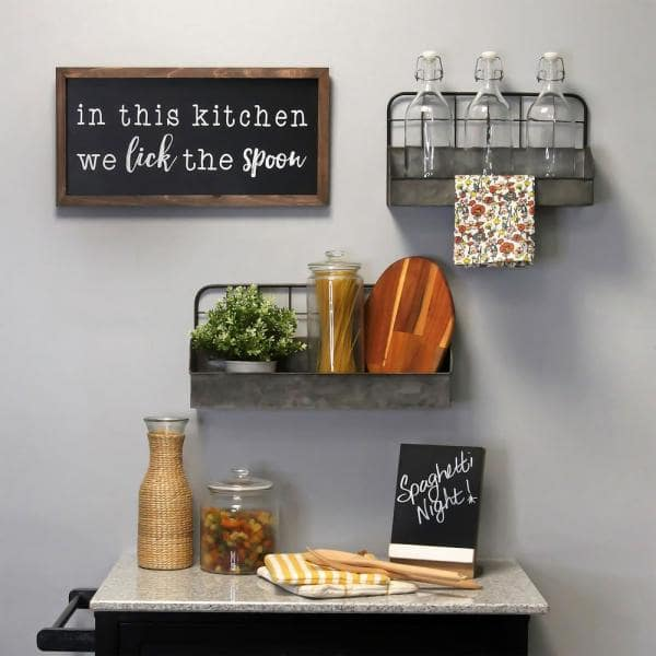 Stratton Home Decor In This Kitchen We Lick The Spoon Wood Wall Art S23826 Depot