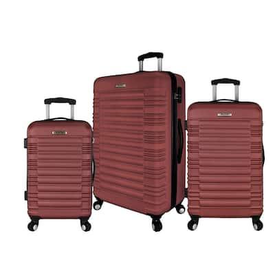 3-Piece Hardside Spinner Luggage Set, Red