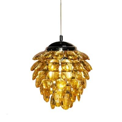 Ari I 1-Light Amber Pendant