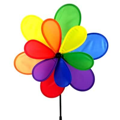 15 in. Nylon Multi Colored Yard Pinwheel