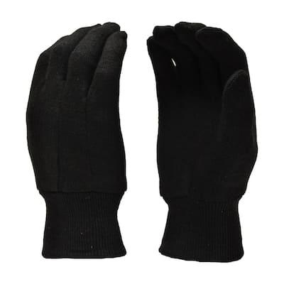 Xlarge Brown Jersey Gloves (12-Pairs)