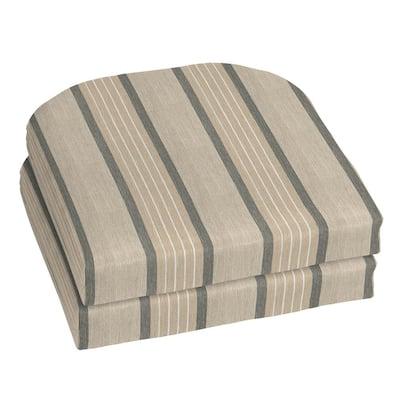 18 x 18 Sunbrella Cove Pebble Outdoor Chair Cushion (2-Pack)